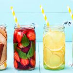 Strawberry, Lemon, Pineapple, Blueberry And Coconut Detox Waters